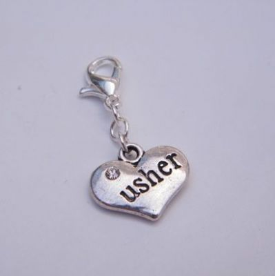 Usher Clip On Charm